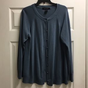 Ashley Stewart Blue Cardigan Sweater 22/24